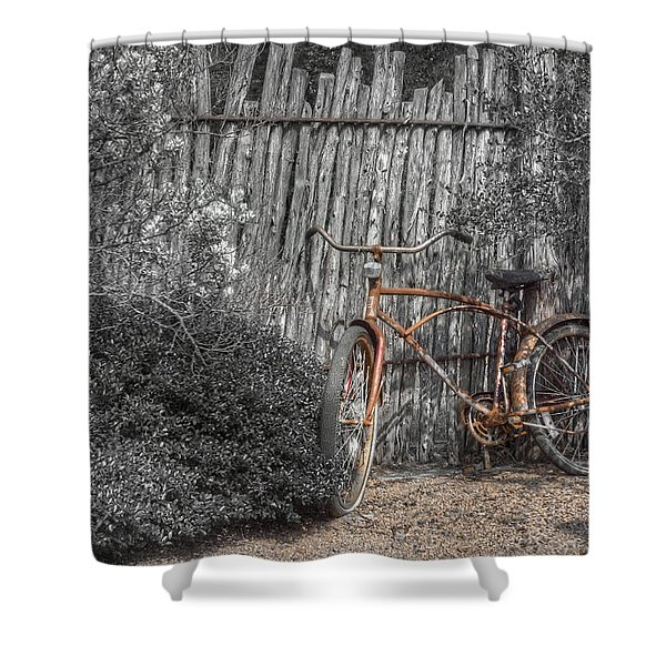 Two Wheels Shower Curtain by Scott Norris