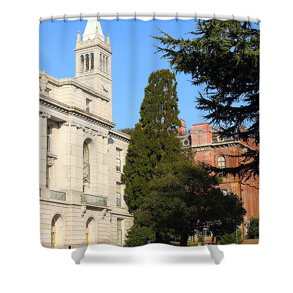 UC Berkeley . Sather Tower Campanile . Wheeler Hall . South Hall Built 1873 . 7D10040 Shower Curtain by Wingsdomain Art and Photography