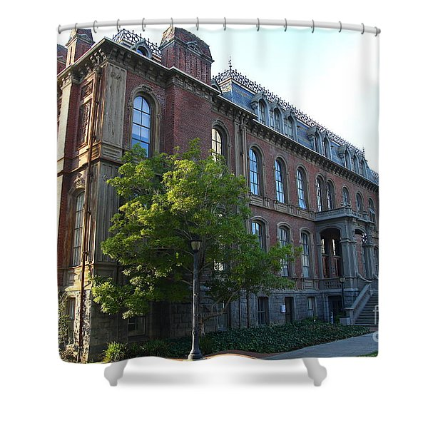 UC Berkeley . South Hall . Oldest Building At UC Berkeley . Built 1873 . 7D10103 Shower Curtain by Wingsdomain Art and Photography