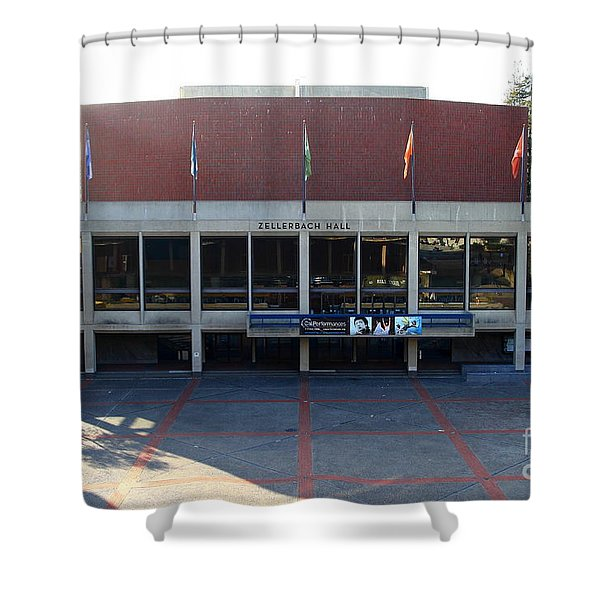 UC Berkeley . Zellerbach Hall . 7D10012 Shower Curtain by Wingsdomain Art and Photography