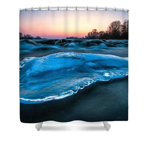 UFO Shower Curtain by Davorin Mance