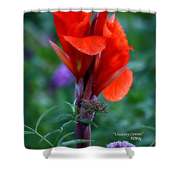 Uncanny Canna Shower Curtain by Patrick Witz