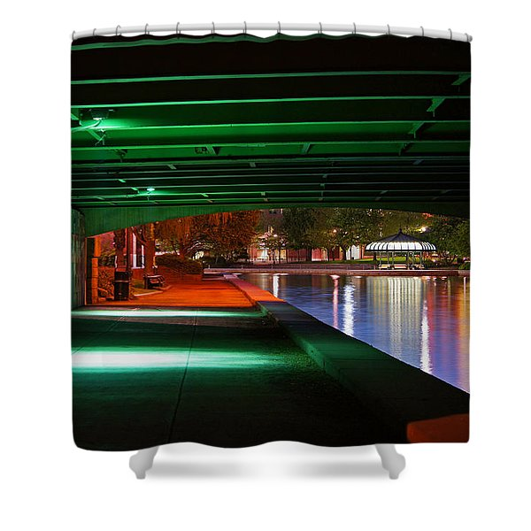 Under The Bridge Shower Curtain by Joann Vitali