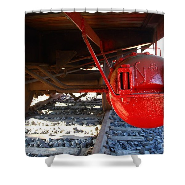 Under The Old Western Pacific Caboose Train . 7d10722 Shower Curtain by Wingsdomain Art and Photography