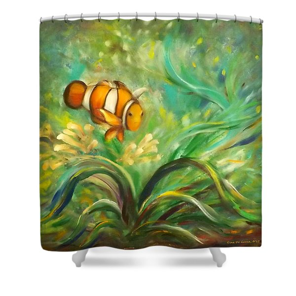 Shower Curtains - Under the Sea 11 Shower Curtain by Gina De Gorna