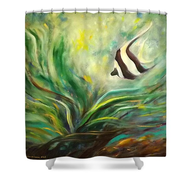 Shower Curtains - Under the Sea 19 Shower Curtain by Gina De Gorna