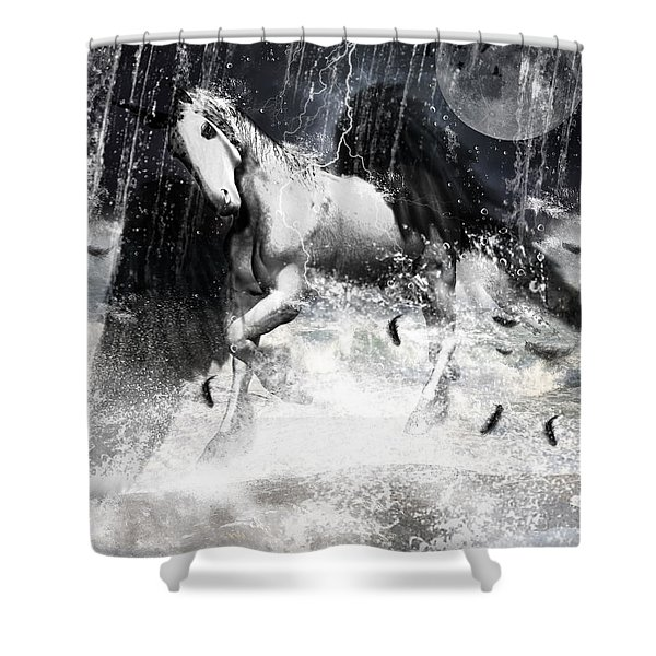 Unicorn's Complexities Shower Curtain by Lourry Legarde