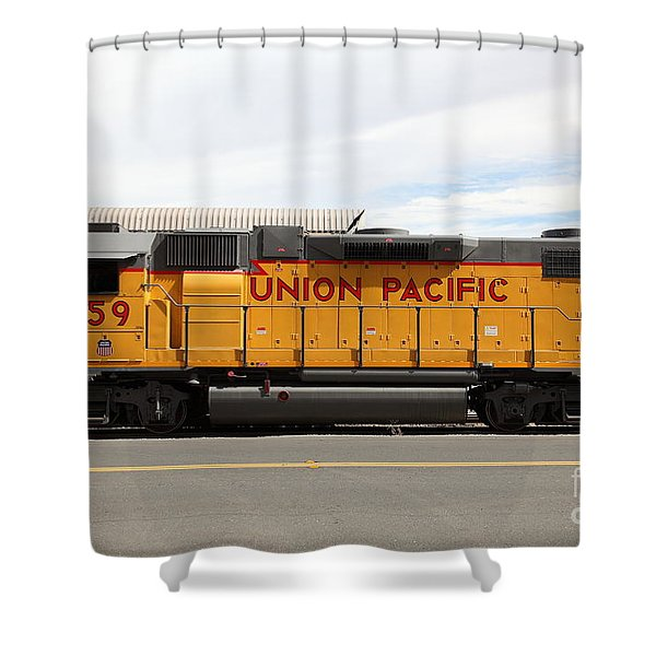 Union Pacific Locomotive Train - 5D18648 Shower Curtain by Wingsdomain Art and Photography