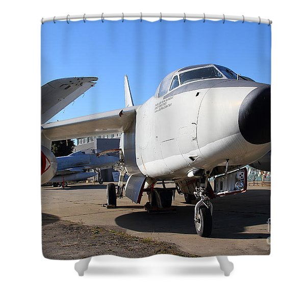US Fighter Jet Plane . 7D11223 Shower Curtain by Wingsdomain Art and Photography