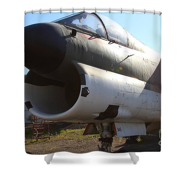 US Fighter Jet Plane . 7D11240 Shower Curtain by Wingsdomain Art and Photography