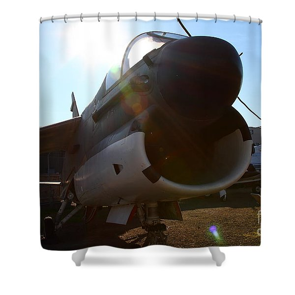 Us Fighter Jet Plane . 7d11296 Shower Curtain by Wingsdomain Art and Photography