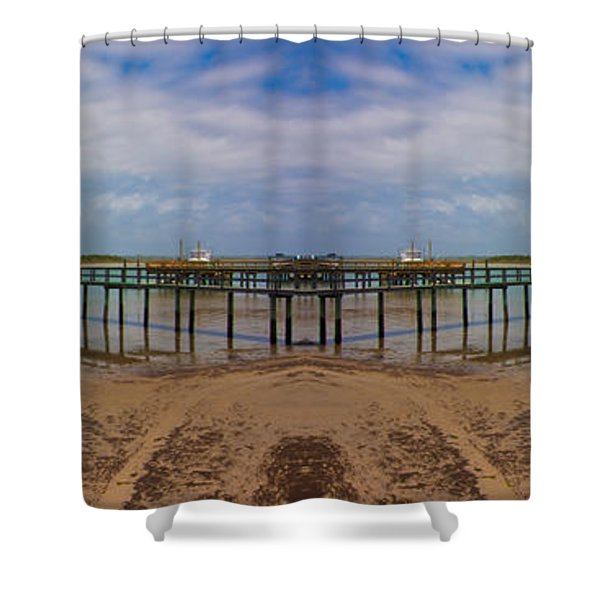 Vacation Reflection Shower Curtain by Betsy C  Knapp