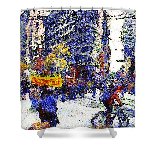 Van Gogh Occupies San Francisco . 7d9733 Shower Curtain by Wingsdomain Art and Photography