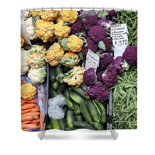 Variety of Fresh Vegetables - 5D17900 Shower Curtain by Wingsdomain Art and Photography
