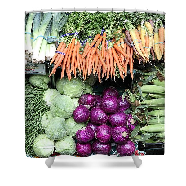 Variety of Fresh Vegetables - 5D17910 Shower Curtain by Wingsdomain Art and Photography