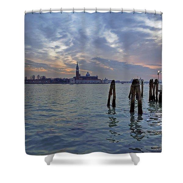 Venice San Giorgio Maggiore Shower Curtain by Joana Kruse