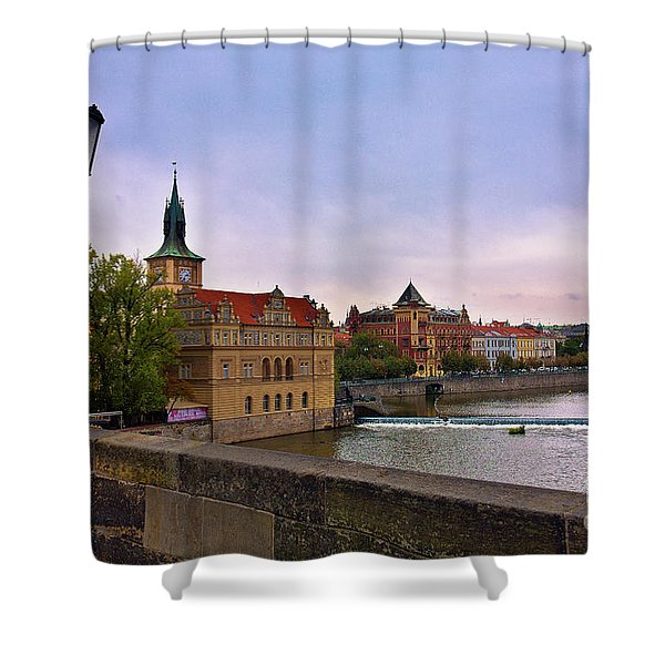 View from the Charles Bridge Revisited Shower Curtain by Madeline Ellis