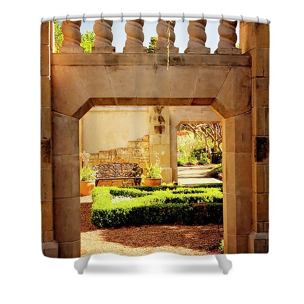 View of the Garden Shower Curtain by Tamyra Ayles