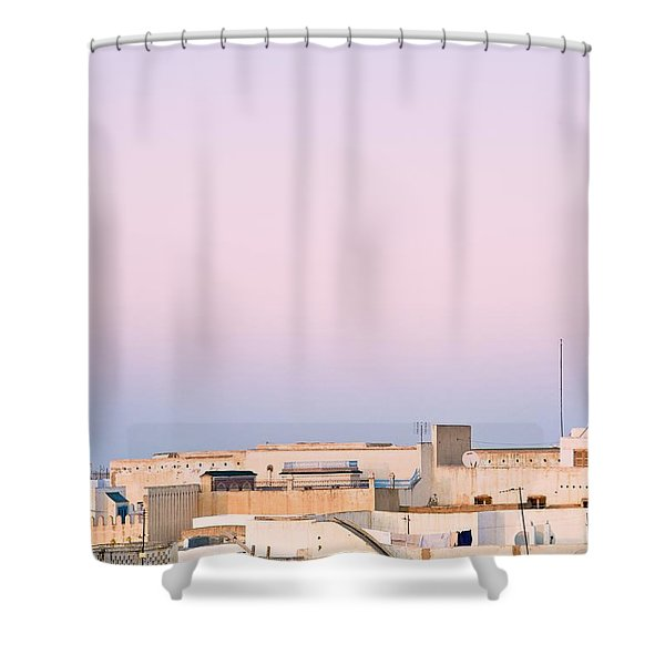View Over Rooftops Kairouan, Tunisia Shower Curtain by David DuChemin