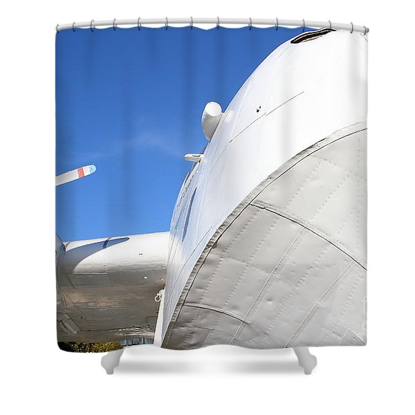 Vintage BOAC British Overseas Airways Corporation Speedbird Flying Boat . 7D11259 Shower Curtain by Wingsdomain Art and Photography