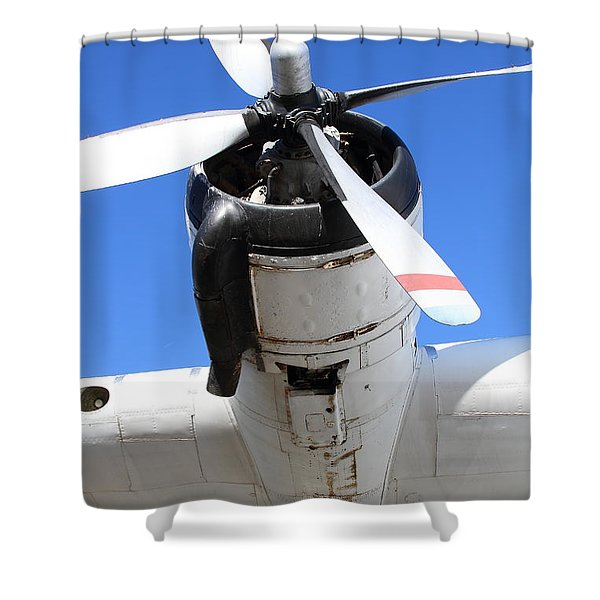 Vintage Boac British Overseas Airways Corporation Speedbird Flying Boat . 7d11261 Shower Curtain by Wingsdomain Art and Photography