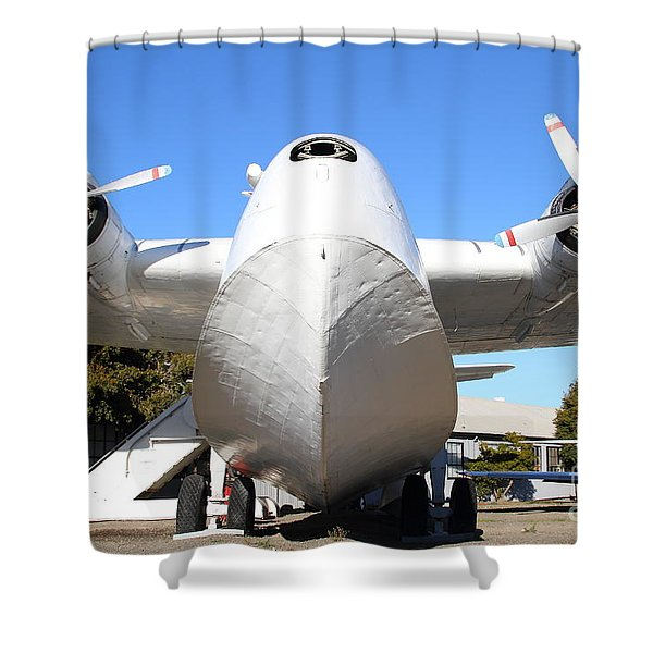 Vintage BOAC British Overseas Airways Corporation Speedbird Flying Boat . 7D11278 Shower Curtain by Wingsdomain Art and Photography