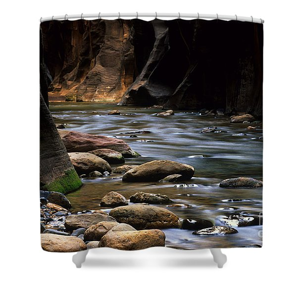Virgin River Light Shower Curtain by Bob Christopher