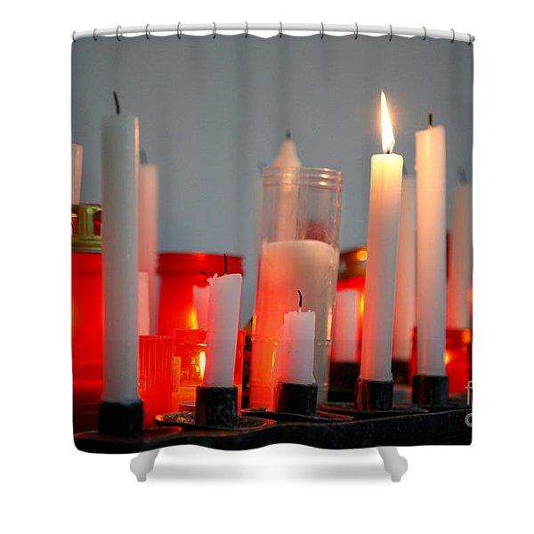 Votive candles Shower Curtain by Gaspar Avila
