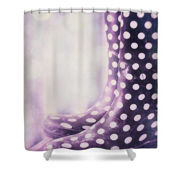 waiting for the rain Shower Curtain by Priska Wettstein