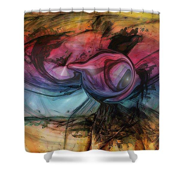 Wandering Star Shower Curtain by Linda Sannuti