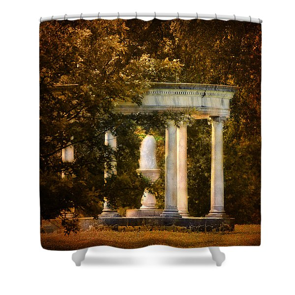 Water Fountain Shower Curtain by Jai Johnson