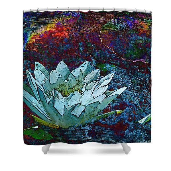Water Lily Abstract Shower Curtain by Phyllis Denton