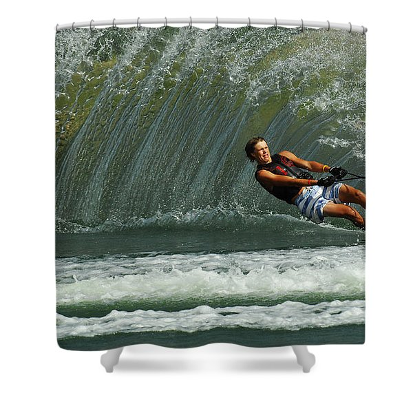 Water Skiing Magic of Water 1 Shower Curtain by Bob Christopher