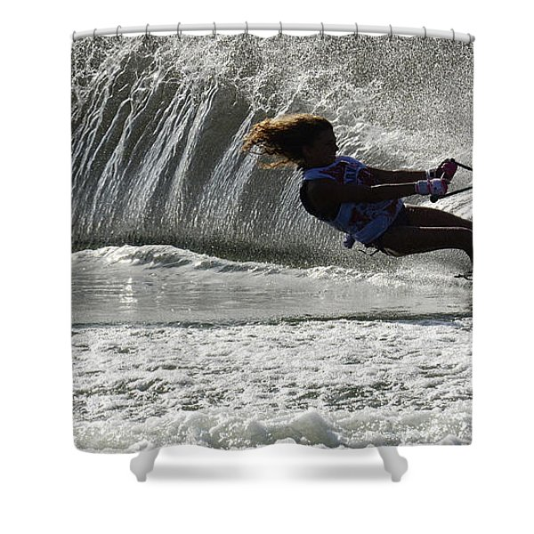 Water Skiing Magic of Water 12 Shower Curtain by Bob Christopher