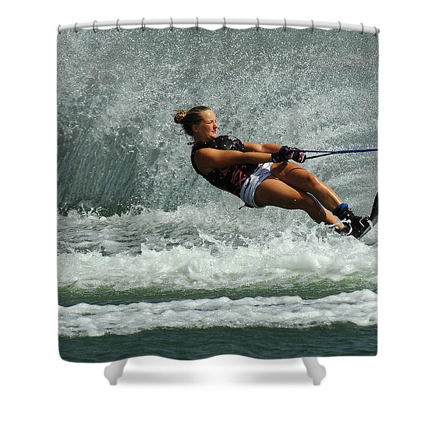 Water Skiing Magic Of Water 2 Shower Curtain by Bob Christopher