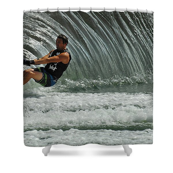 Water Skiing Magic of Water 3 Shower Curtain by Bob Christopher