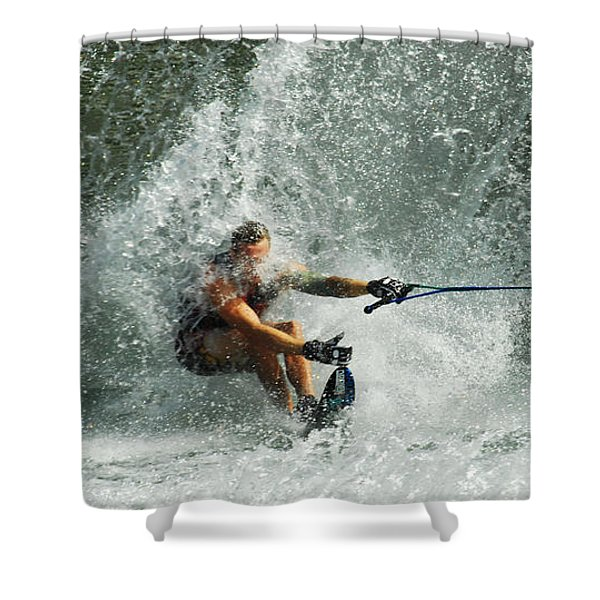 Water Skiing Magic of Water 34 Shower Curtain by Bob Christopher