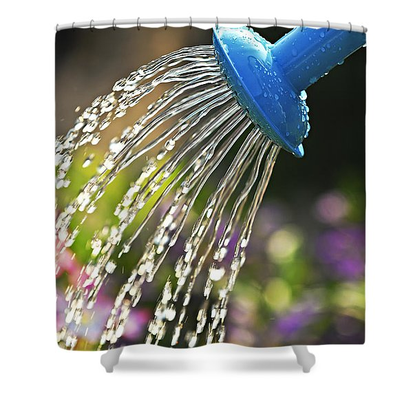 Watering Flowers Shower Curtain by Elena Elisseeva