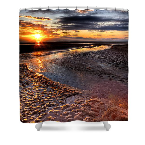 Welsh Sunset Shower Curtain by Adrian Evans