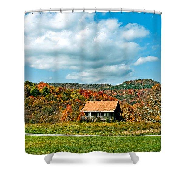 West Virginia Homestead Shower Curtain by Steve Harrington