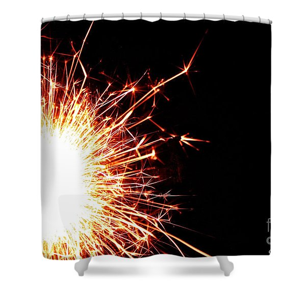 White Center Shower Curtain by Susan Herber