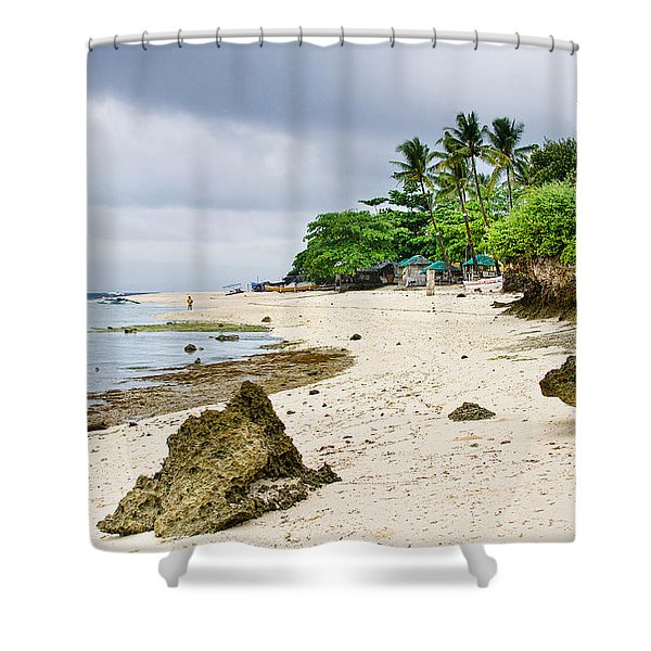 White Sand Beach Moal Boel Philippines Shower Curtain by James BO  Insogna