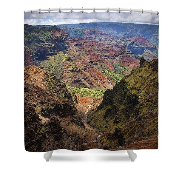 Wiamea Depth Shower Curtain by Mike  Dawson