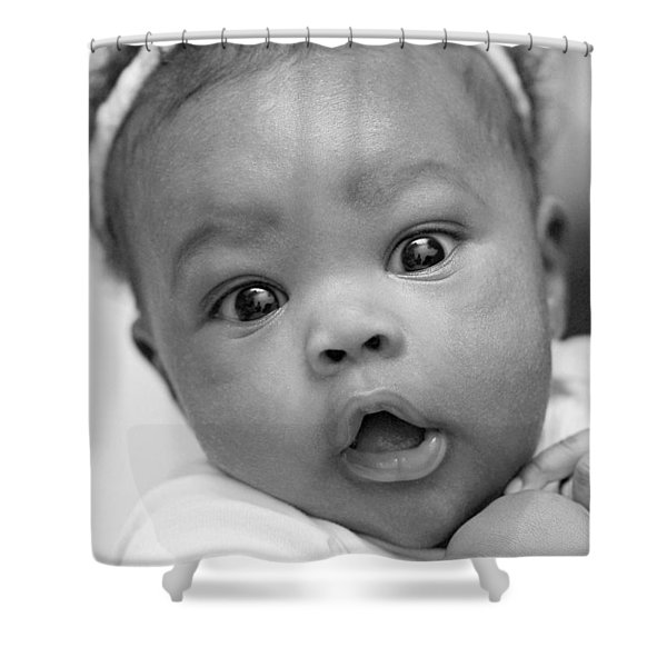 Wide Awake Shower Curtain by Lisa  Phillips