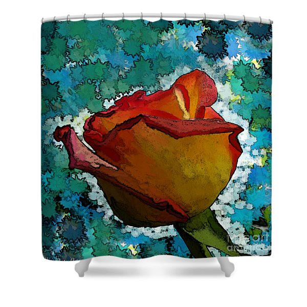 Wild And Crazy Rose Bud Shower Curtain by Debbie Portwood