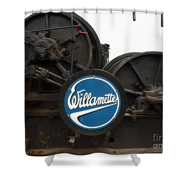 Willamette Steam Engine 7d15104 Shower Curtain by Wingsdomain Art and Photography