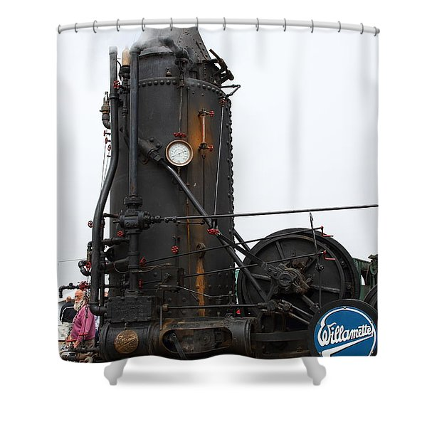Willamette Steam Engine 7d15105 Shower Curtain by Wingsdomain Art and Photography