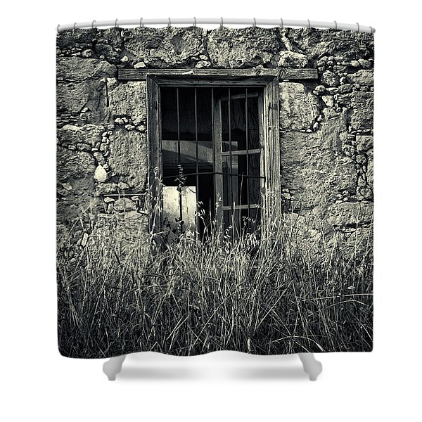 Window Of Memories Shower Curtain by Stylianos Kleanthous