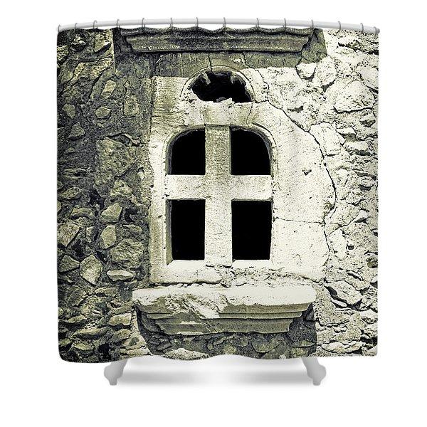 window of stone Shower Curtain by Joana Kruse