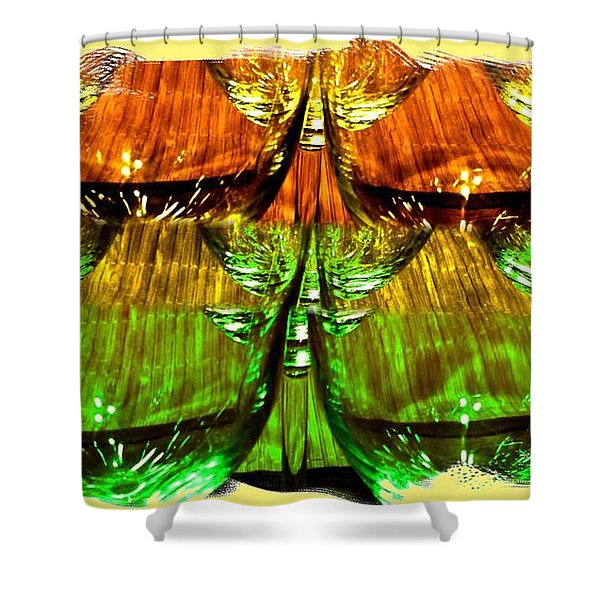 Wine And Dine 2 Shower Curtain by Will Borden